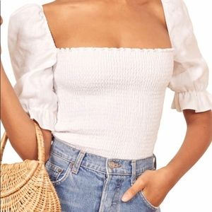 Reformation Clementine Top. New. With tag. Size S